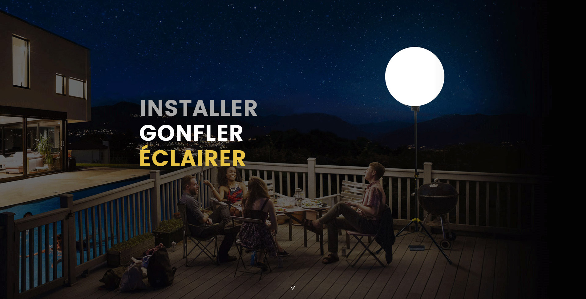 Eclairage De Terrasse Exterieur orizeo : ballon éclairant pour événements et soirées